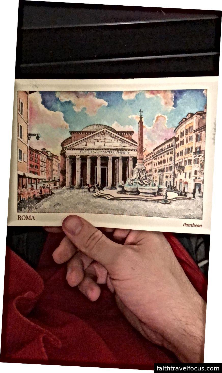 Một tấm bưu thiếp của một tác phẩm điêu khắc mà tôi thực sự thích. Một trong những tấm bưu thiếp của tôi đến mà tôi đã gửi từ Rome.