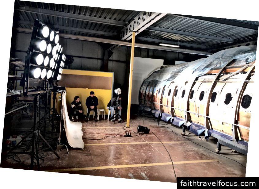 Một studio nội thất máy bay.