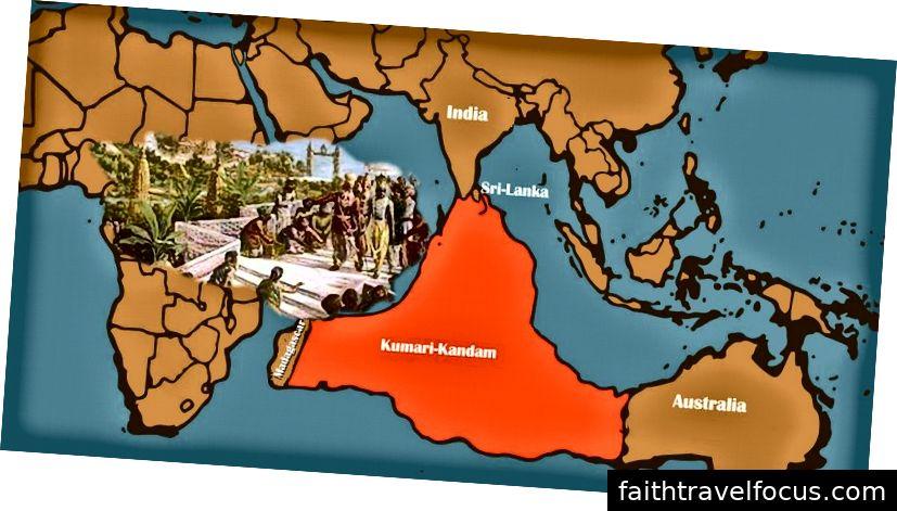 Bản đồ Kumari Kandam