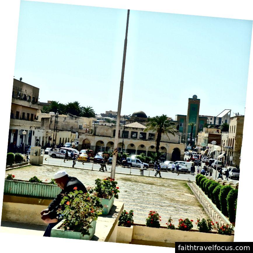 Quang cảnh Tòa thị chính trang trí nghệ thuật Asmara sườn và chợ cá có mái che từ Nhà thờ Hồi giáo chính (Tác giả pic pic)