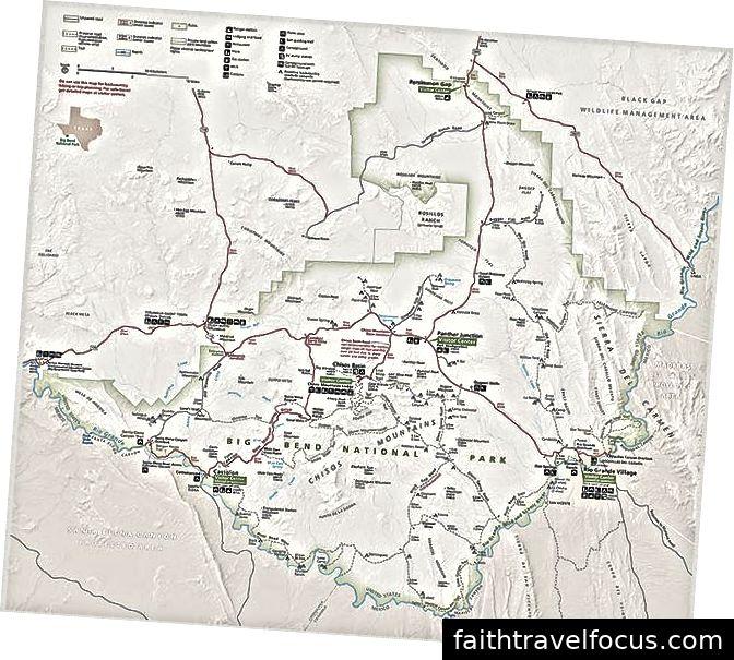 Bản đồ dịch vụ công viên quốc gia