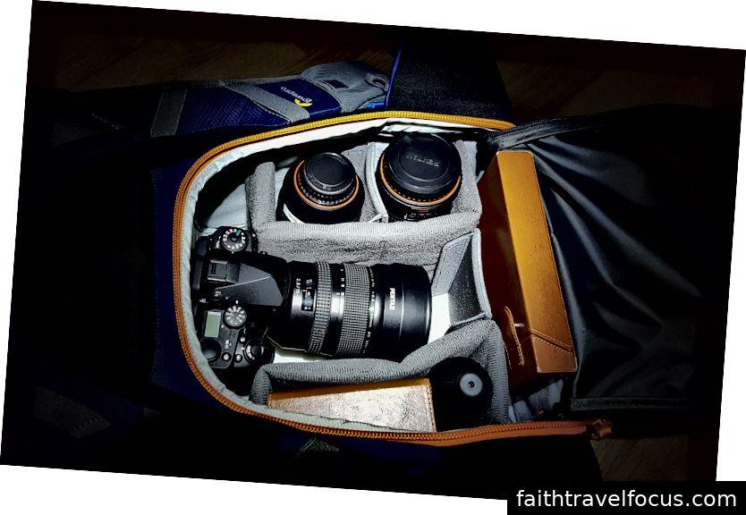Dslr, hai ống kính và bộ lọc Nisi