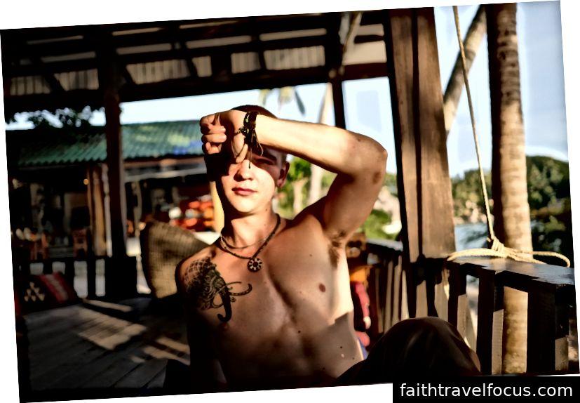 Bản thân tôi ở Koh Tao, Thái Lan - trong chuyến phiêu lưu ba lô Đông Nam Á đầu tiên của tôi.