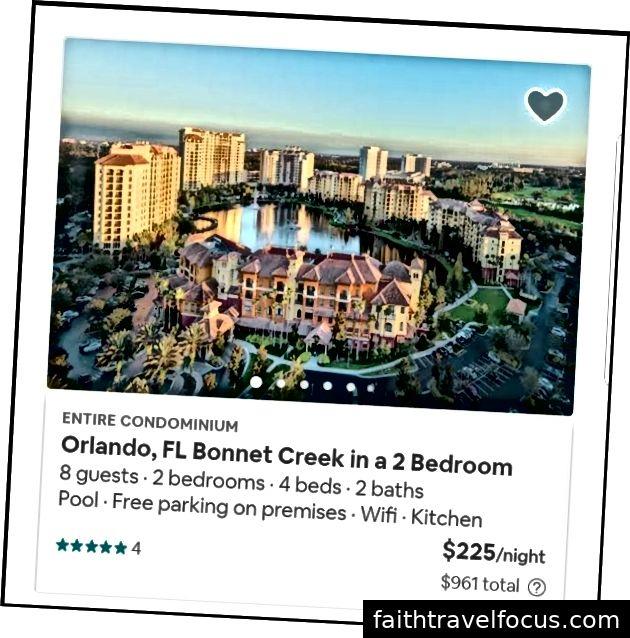 Hình 1: Khách sạn Inn Resort Orlando Suites (Hotels.com); Hình 2: Airbnb