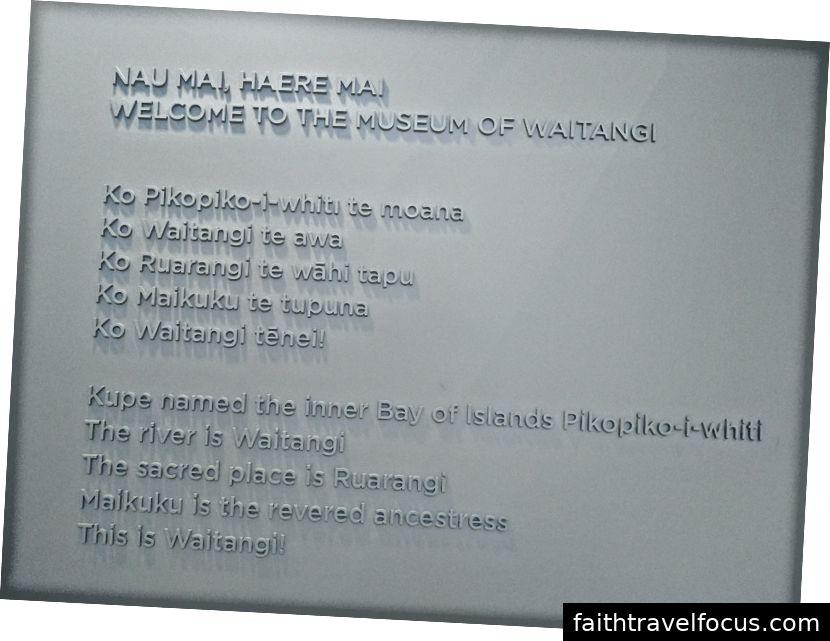 Chào mừng bài thơ đến Bảo tàng Waitangi