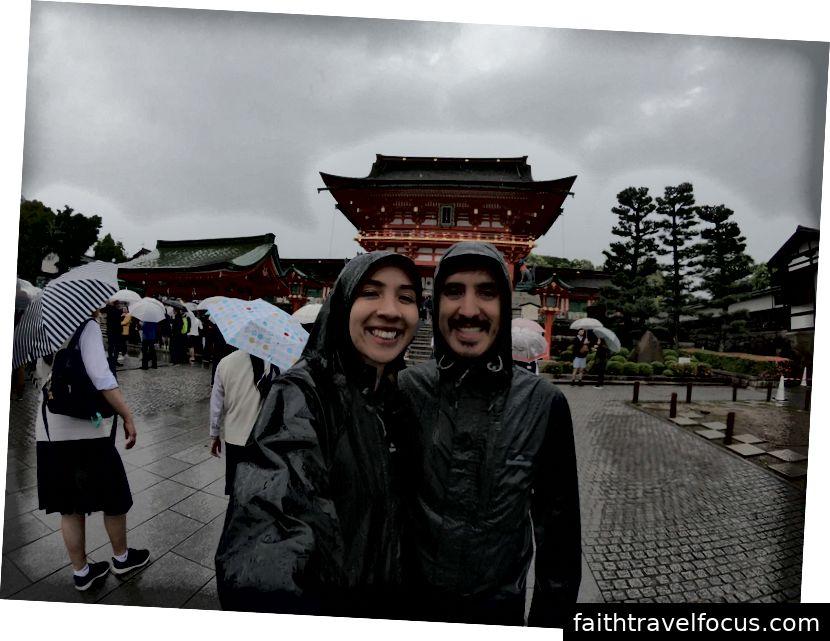 Ngày mưa tham quan ở Kyoto, Nhật Bản