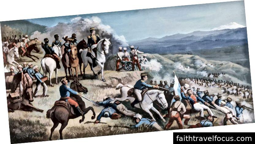 Nghệ thuật miêu tả nói Niggas nói về những con ngựa trong cuộc cách mạng Colombia