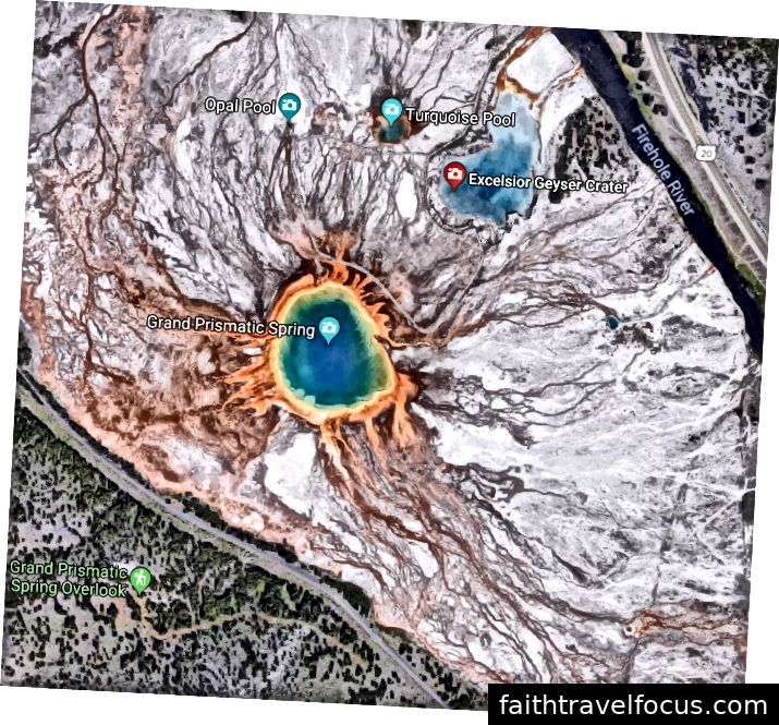 Geyser trong công viên quốc gia Yellowstone.