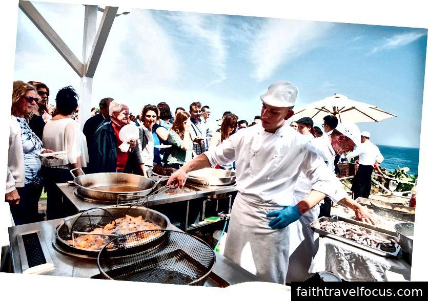 Hiển thị nấu ăn tại Cibo Nostrum 2018 ở Taormina