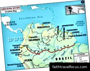 Bản đồ sông Amazon