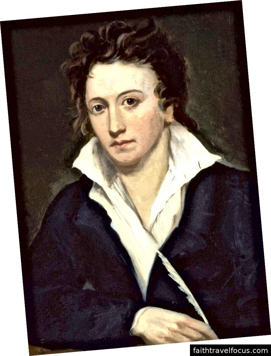 Percy Bysshe Shelley của Alfred Clint. Hình ảnh lịch sự WikiMedia.