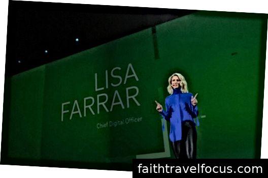 Lisa Farrar trên sân khấu nói về sự biến đổi