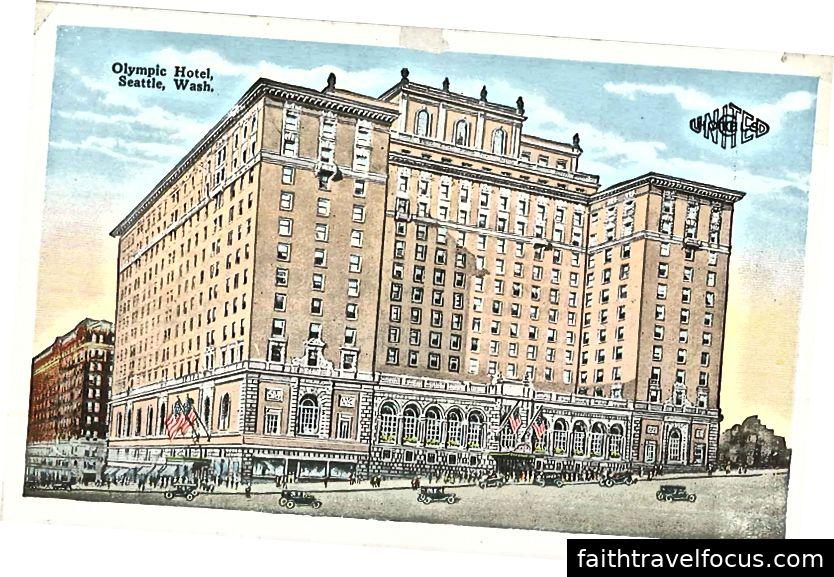 Một bức vẽ bưu thiếp từ khách sạn năm 1925. Hình ảnh lịch sự của Wikipedia.