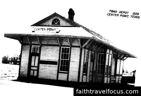 Trạm Center Point, 1939 (Được phép của Bảo tàng Vận tải Texas)