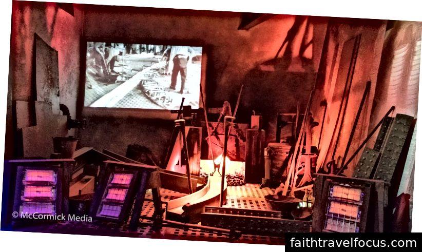 Lò đúc trưng bày trên chuyến đi trong Belfast Titanic