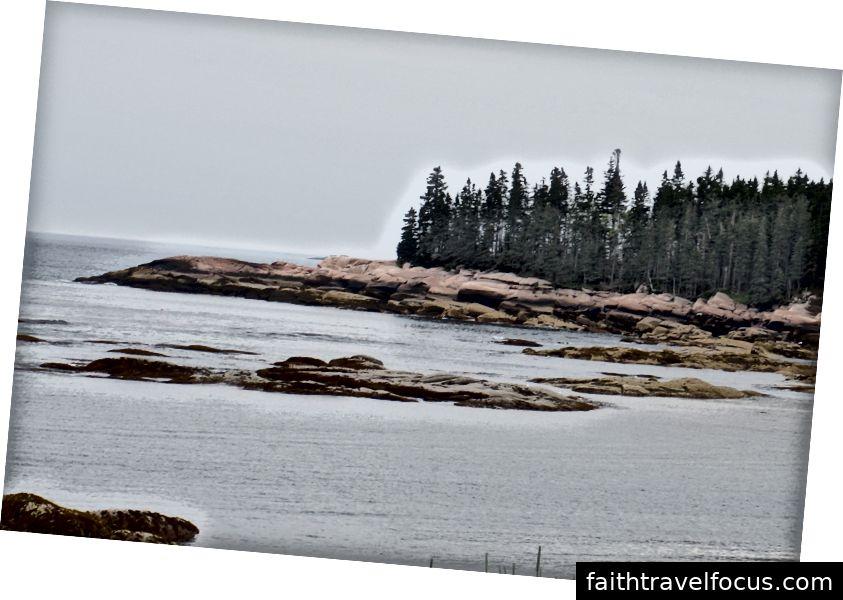 Thủy triều thấp, đảo Gotts, Maine - ảnh của tác giả
