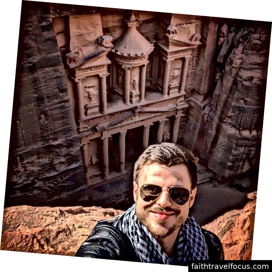 Kho bạc ở Petra từ trên cao.