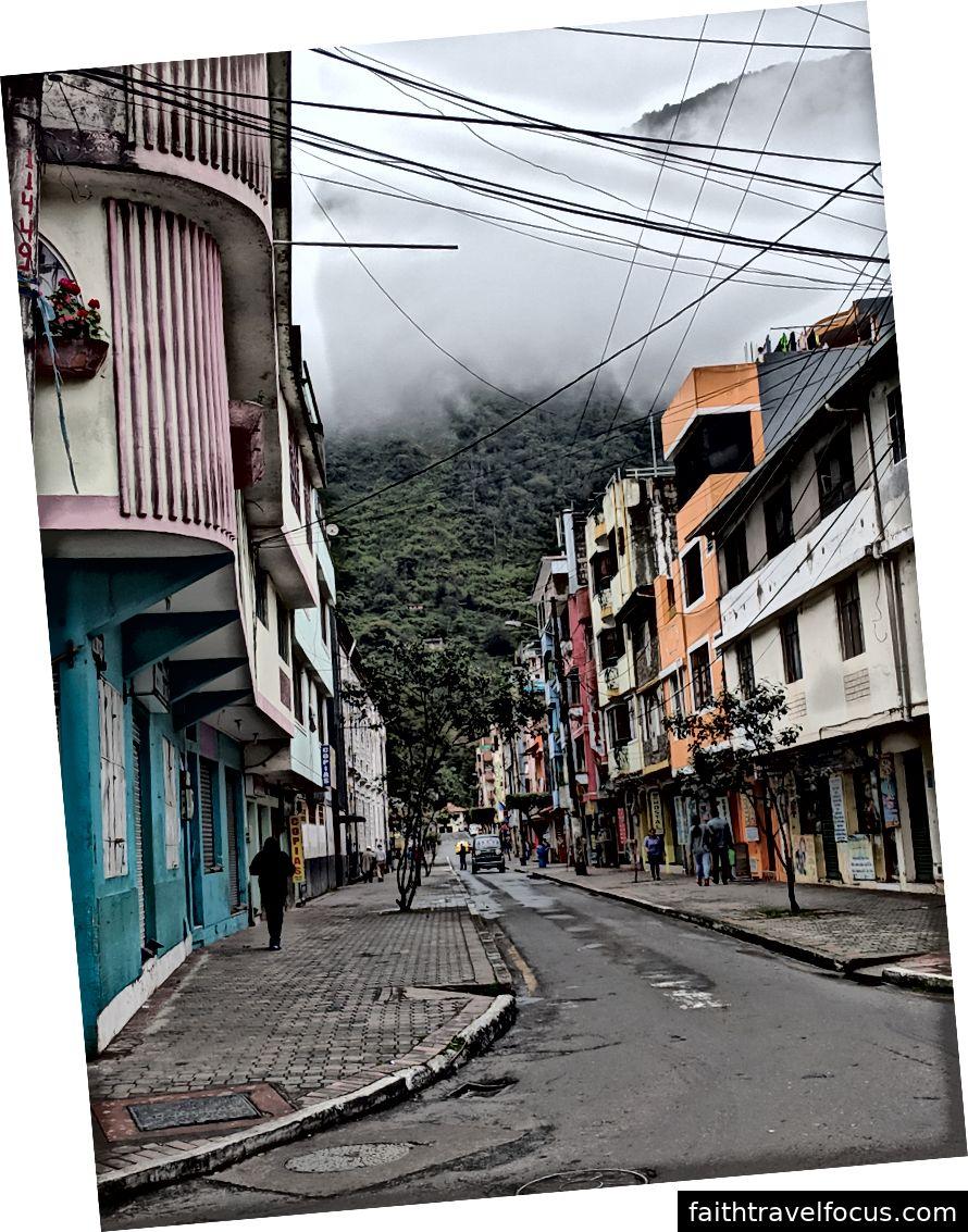 Các đường phố của Baños.