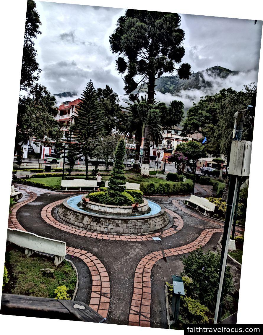 Một trong những công viên ở Baños.