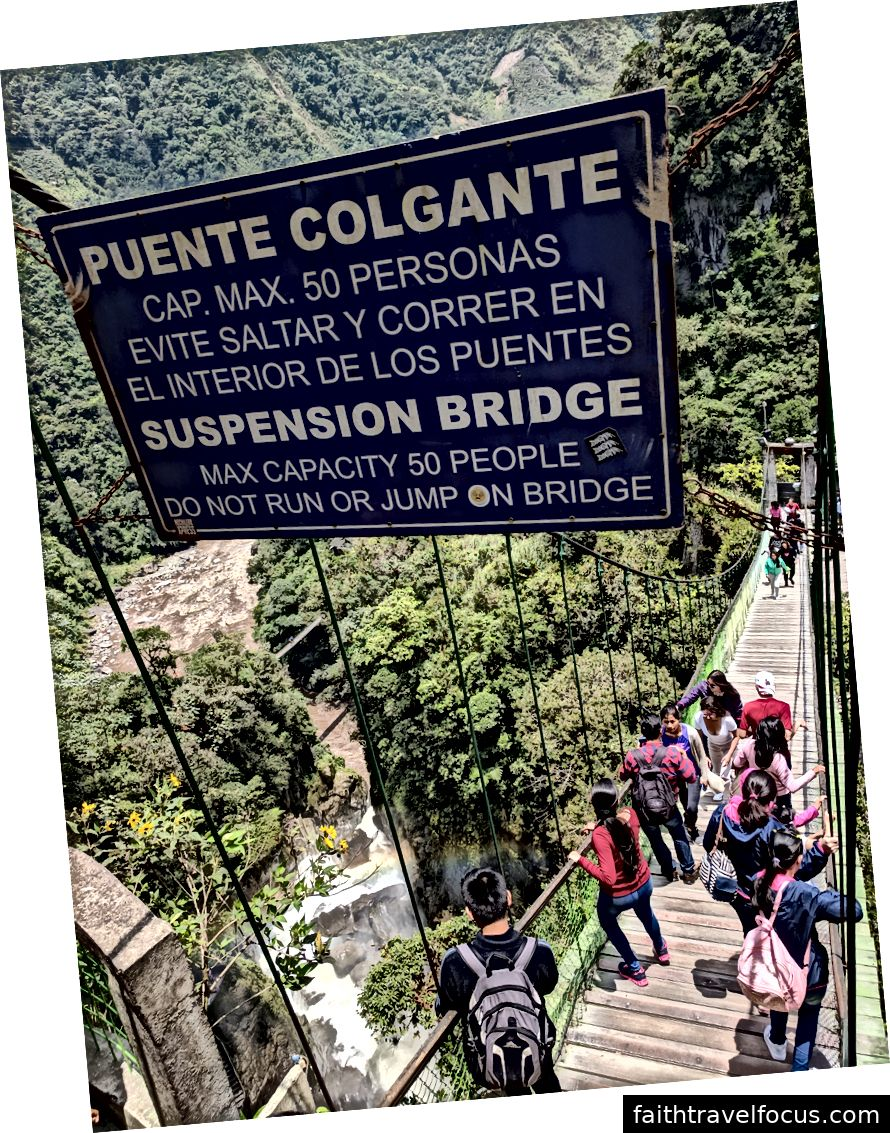 Cầu đến El Pailón Del Diablo.