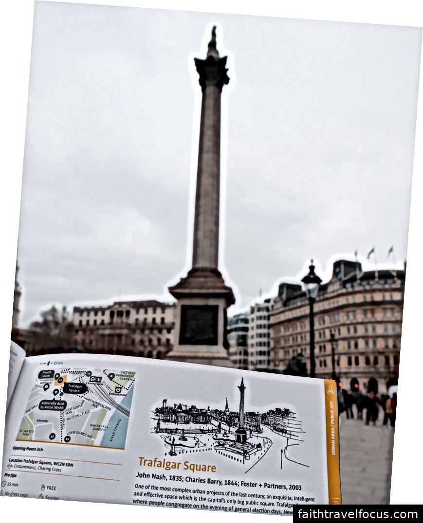 Bức tượng Horatio Nelson, hiện không có một cánh tay