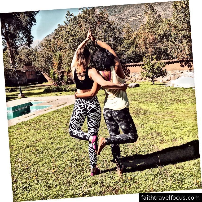 Chúng tôi đã tập yoga rất nhiều