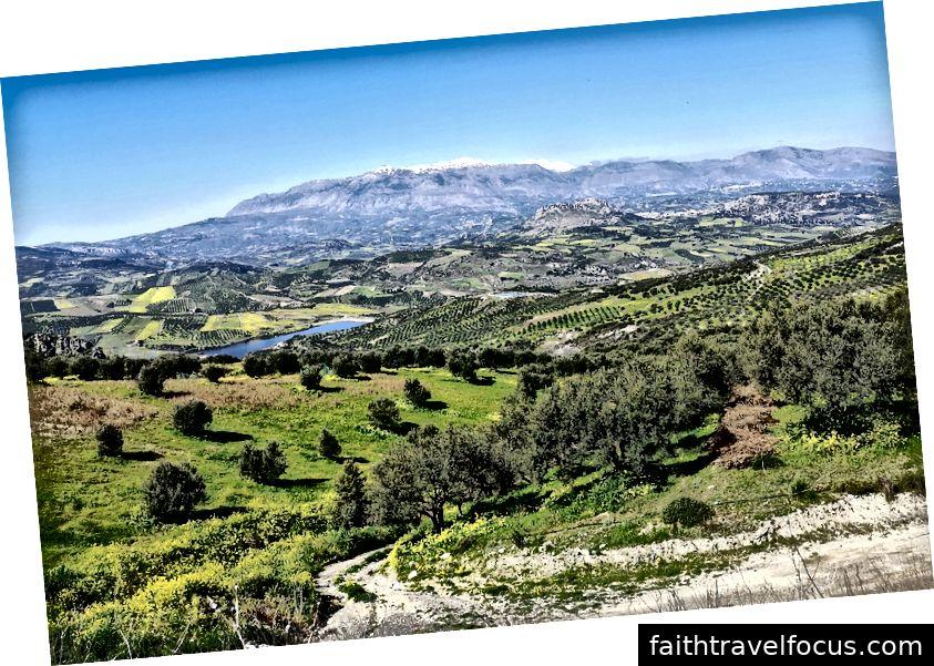 Vùng nông thôn từ Heraklion đến Pirgos