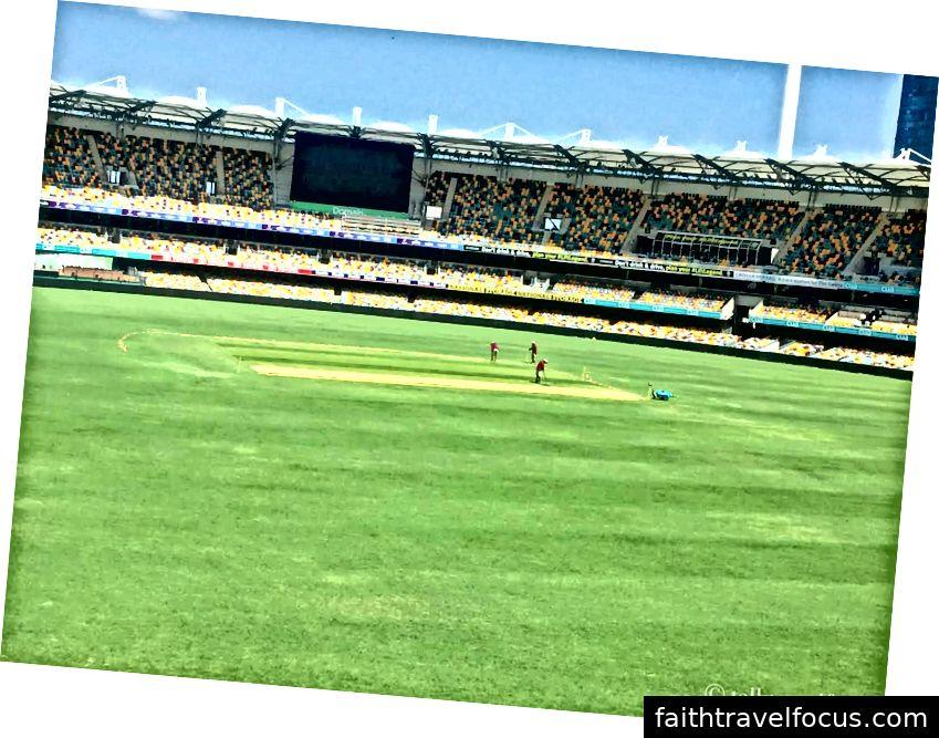 Sân vận động Gabba được chuẩn bị cho trận đấu Ấn Độ vs Australia vào tháng 12 năm 2019