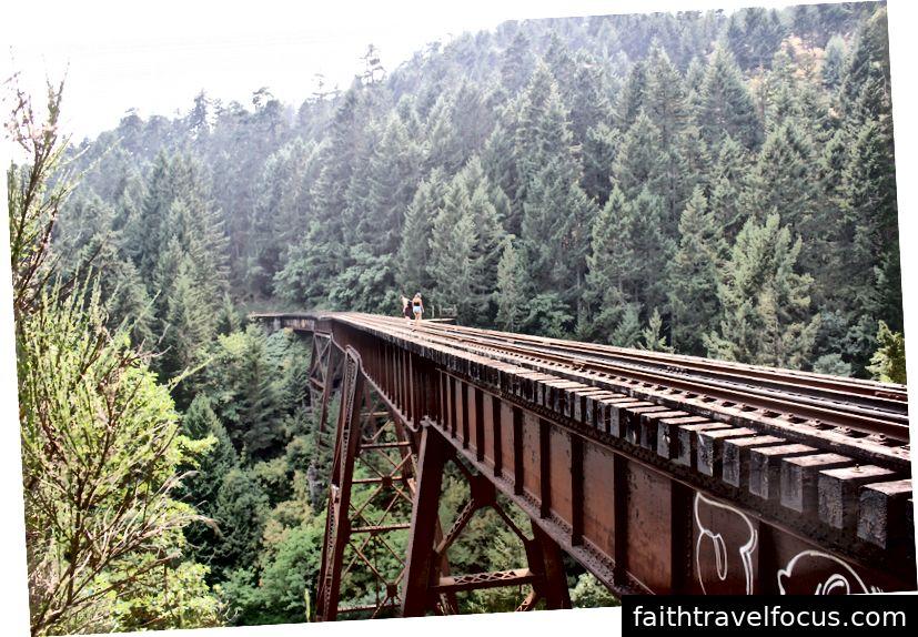 Đây là tuyến đường sắt ở Whistler, BC. Đường sắt không còn được sử dụng nhưng mọi người ghé thăm để xem cảnh quan và nó dẫn đến một thác nước.