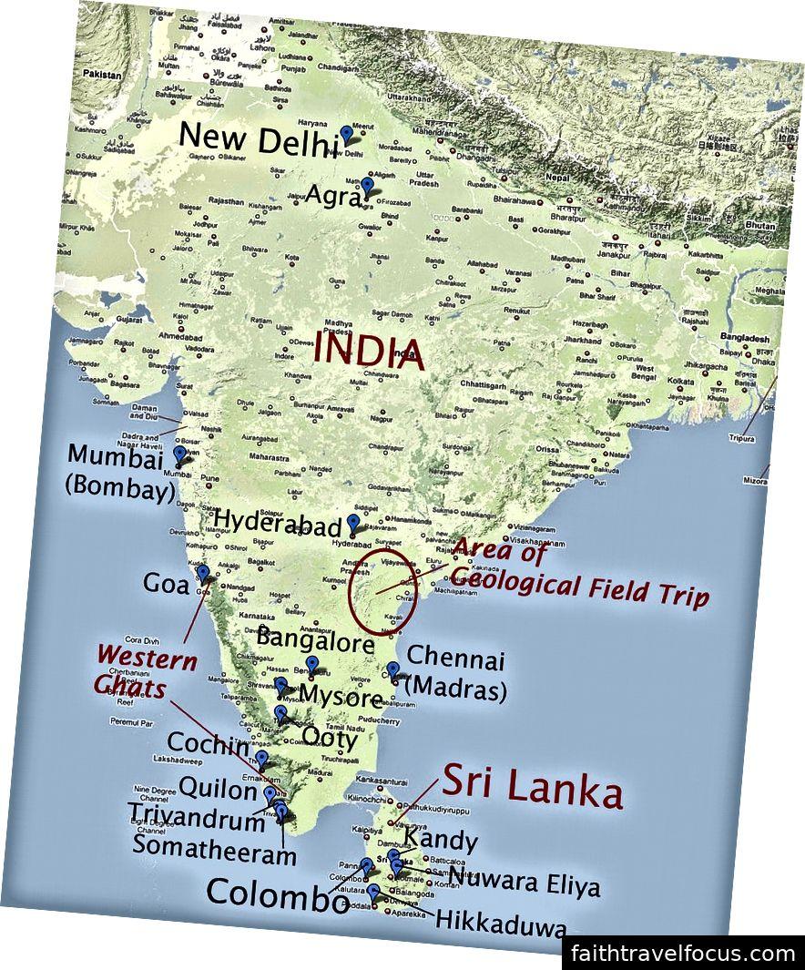 Bản đồ này cho thấy sự gần gũi của Sri Lanka với Ấn Độ.