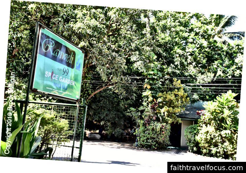 Trên đường đến Sigirya, chúng tôi dừng lại ở khu vườn gia vị này để tham quan miễn phí rất thú vị.