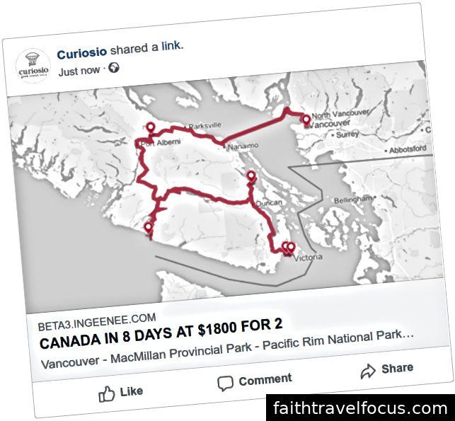 Một chuyến đi được chia sẻ khác trên Facebook