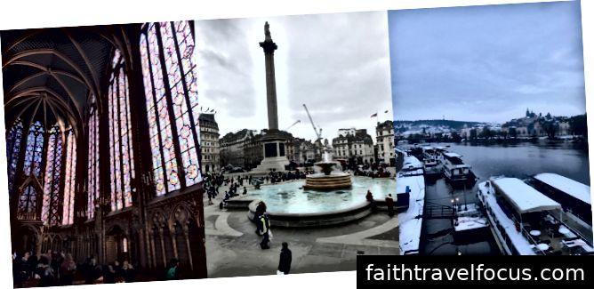 Trái sang phải: Paris, London, Prague