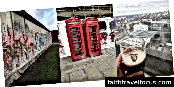 Trái sang phải: Bức tường Berlin, London, Dublin