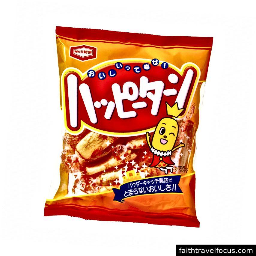 Happy Turn là một món ăn nhẹ thuần chay của Nhật Bản.
