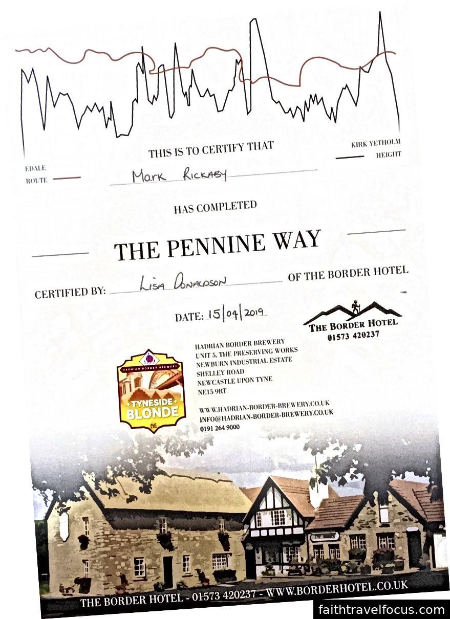 私は認定Pennine Wayfarerです。