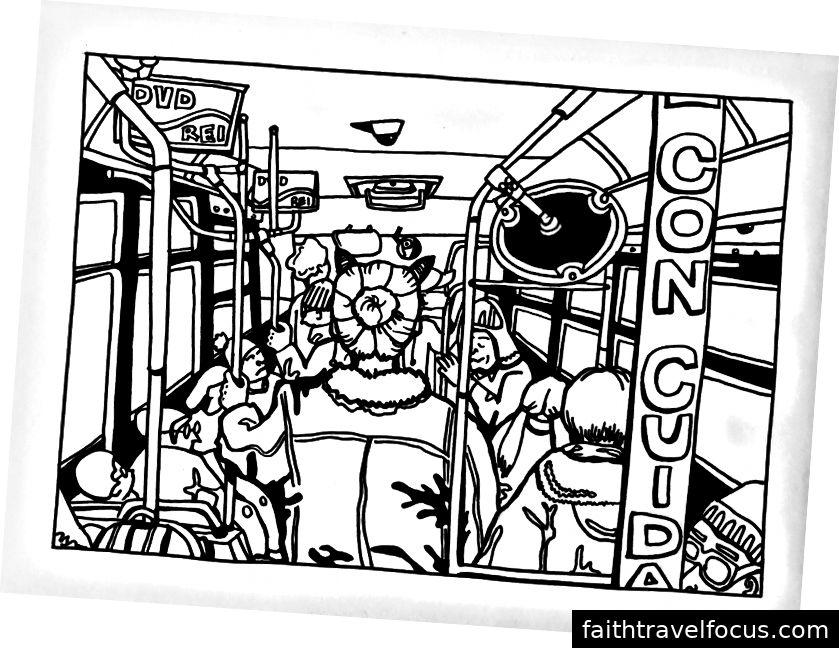 Xe buýt đông đúc
