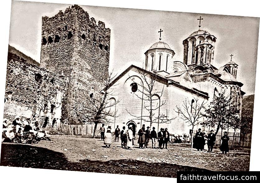Mosteiro de Manasija, 1875