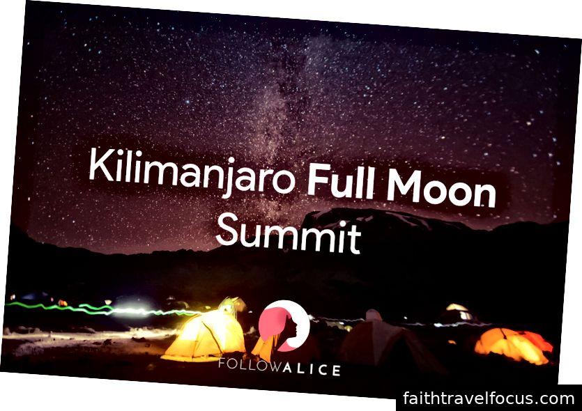 Leo lên mặt trăng tròn Kilimanjaro