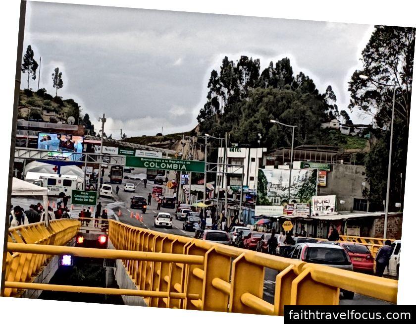 Hranica medzi Ekvádorom a Kolumbiou.