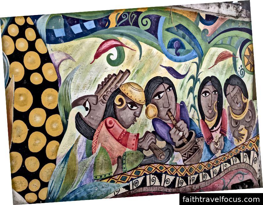 Krásna nástenná maľba v Ipiales.