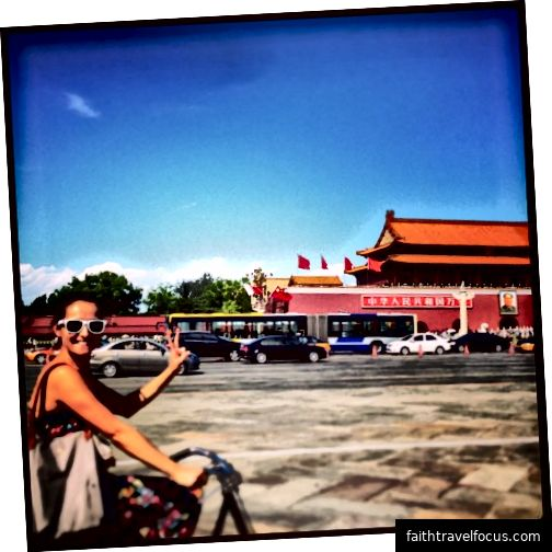 Riteņbraukšana caur Pekinu