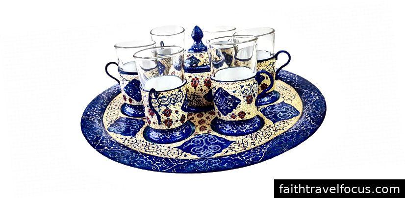Minakari Ceai set. Foto @ bazarmina.com
