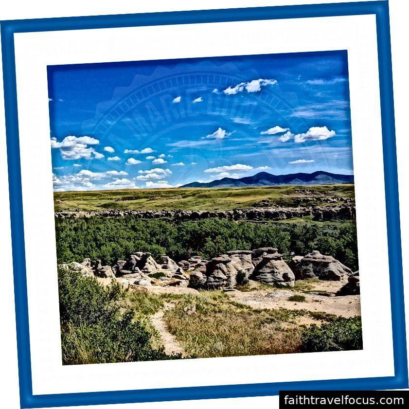 Psaní na kamenné provinční park, alberta, kanada | Červenec 2016 | Fotografování v oblasti cestování a krajiny