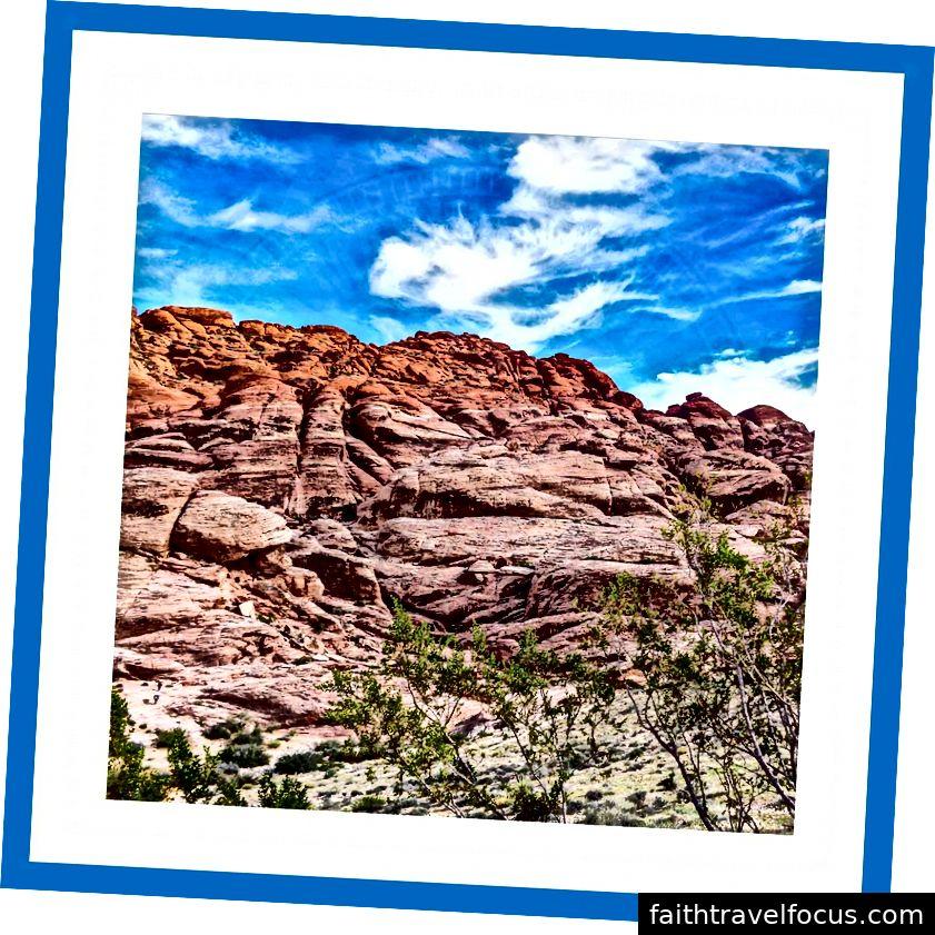 Red rock canyon národní konzervace, las vegas, nevada, usa Listopad 2015 Fotografování v oblasti cestování a krajiny