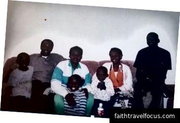 Família reunida de Sanguma - verão 1999