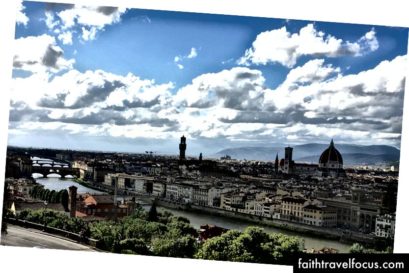 Panoramatický výhľad na Florenciu.