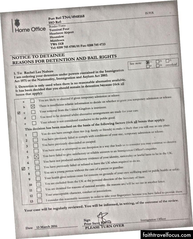 Čítal som to na zadnej strane tohto formulára.