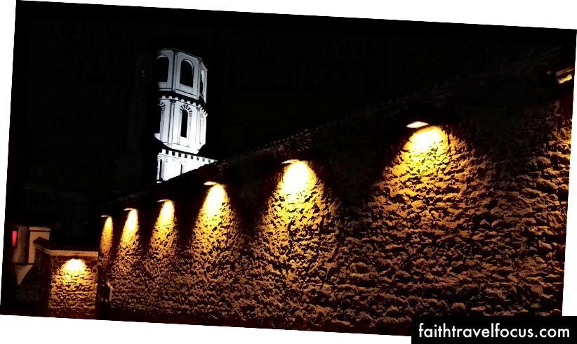 Старый город Пловдив ночью