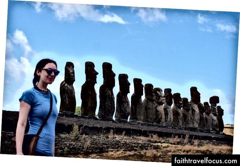 Tijdens het nemen van deze foto op Ahu Tongariki klonken geen fluitjes